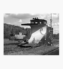 Snowplow caboose Photographic Print