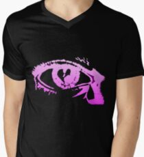 Eye Cry [Violet] Men's V-Neck T-Shirt