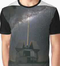 Astrophotography - Laser Beam towards the Milky Way  Graphic T-Shirt