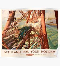 The Forth Rail Bridge Advertising Vintage Poster
