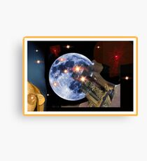 Shoot The Moon ! Canvas Print