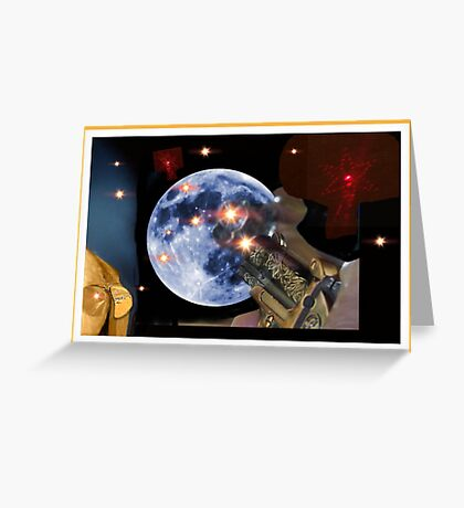Shoot The Moon ! Greeting Card