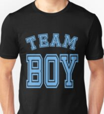 Team Boy Blue Boy Mom Baby Shower Gender Reveal Party Cute Funny Gift T-Shirt
