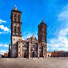 Spanish Baroque Cathedral In The Heart of Puebla Mexico by Mark Tisdale