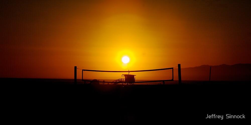 Sunset at Venice beach california by Jeffrey  Sinnock