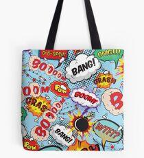 Comic Strip Superhero Design Tote Bag