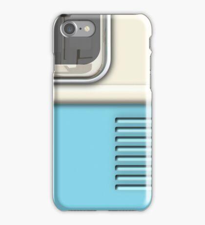 Cream Blue Camper Van iPhone Case/Skin