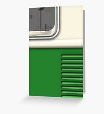 Cream Green Camper Van Greeting Card