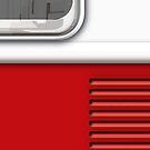 White Red Camper Van by Ra12
