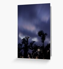 Trees and clouds and time Greeting Card