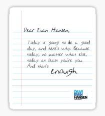 DEH Finale Letter Sticker