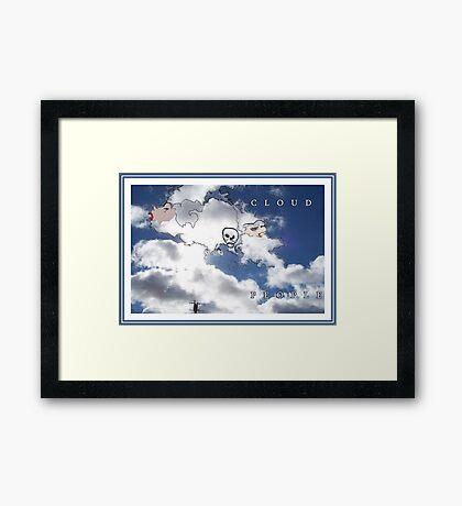 CLOUD PEOPLE Plus Framed Print