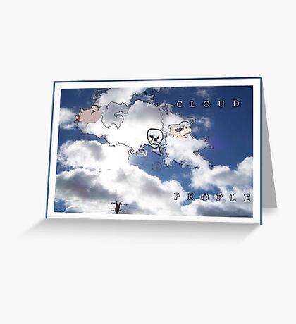 CLOUD PEOPLE Plus Greeting Card