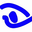 Picasso Eye drawn in Blue on White by DrDetective .