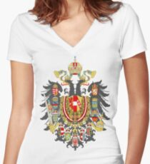 Austria-Hungary Women's Fitted V-Neck T-Shirt