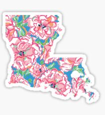 Louisiana Lilly Floral Sticker