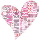 Skam heart - pink by milliesillie