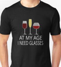 In meinem Alter brauche ich Gläser Slim Fit T-Shirt