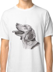 Classic Beagle Dog Profile Drawing Classic T-Shirt