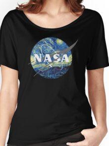 Nasa Logo Van Gogh  Women's Relaxed Fit T-Shirt