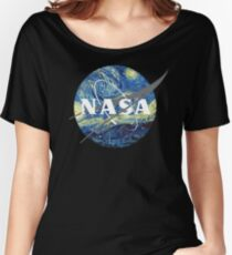 Nasa Logo Van Gogh  Women's Relaxed Fit T-Shirt