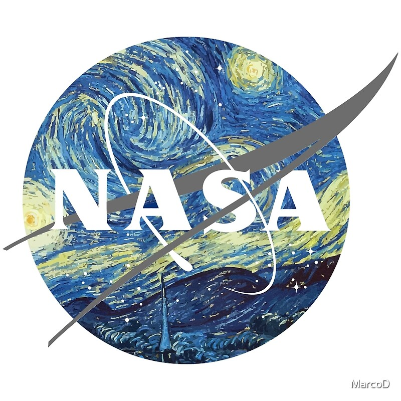 Quot Nasa Logo Van Gogh Quot Posters By Marcod Redbubble