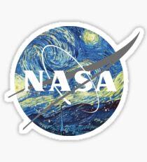 Nasa Logo Van Gogh  Sticker