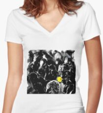 Rebellious Droid Women's Fitted V-Neck T-Shirt