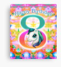 Happy Birthday Unicorn Canvas Print