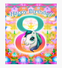 Happy Birthday Unicorn Photographic Print