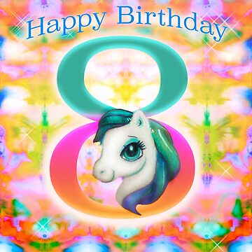 Happy Birthday Unicorn by sunset