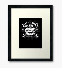 Elite Gamer University Framed Print