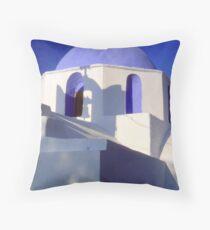 Church; Paros Throw Pillow