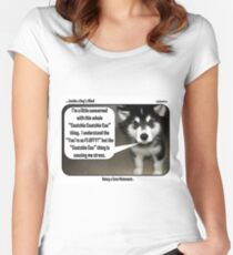 Malamute Cute Women's Fitted Scoop T-Shirt