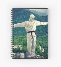 Jiu jitsu Jesus - Brazil Statue  Spiral Notebook