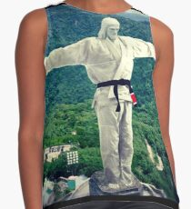 Jiu jitsu Jesus - Brazil Statue  Contrast Tank