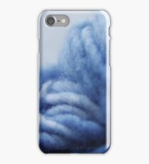 Cool blue yarn iPhone Case/Skin