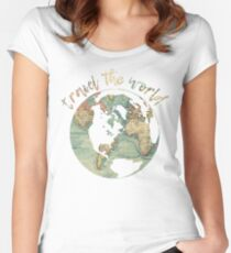travel the world map Women's Fitted Scoop T-Shirt