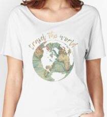 travel the world map Women's Relaxed Fit T-Shirt
