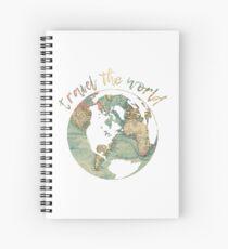 Reise die Weltkarte Spiralblock