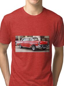Red and White 1956 Chevy Bel Air....Sweet! Tri-blend T-Shirt