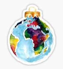 Globe bauble Sticker