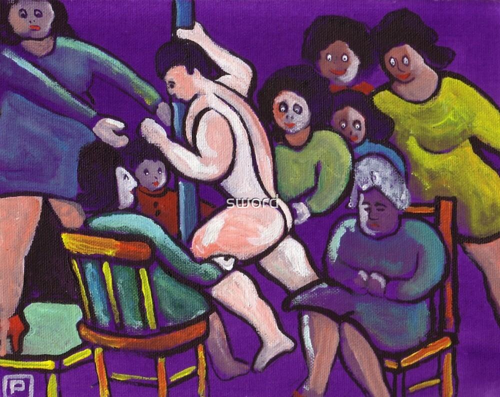 Ladies night (from my original acrylic painting) by sword