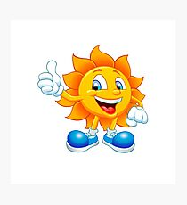 smiling sun Photographic Print