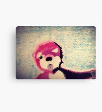 ABQ Pink Bear Canvas Print