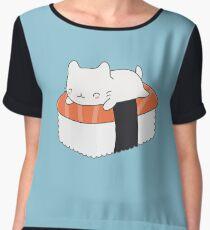 Kawaii Sushi Cat  Chiffon Top