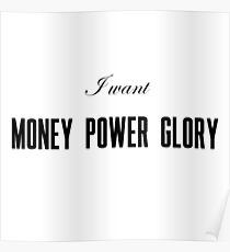 Lana Del Rey- Money Power Glory Poster
