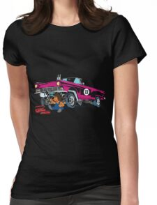 Hedgehog The Hot Rod S Mechanic Womens Fitted T-Shirt