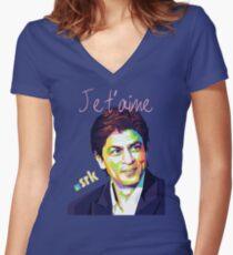 Srk Je t'aime Women's Fitted V-Neck T-Shirt