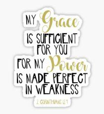 2 Corinthians 12:9 Bible Scripture Verse Handwriting Sticker